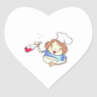 Cooking With Wine Heart Stickers
