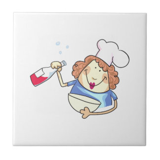 Cooking With Wine Small Square Tile
