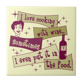 Cooking With Wine Tile Trivet