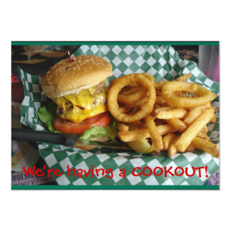 Cookout 13 Cm X 18 Cm Invitation Card