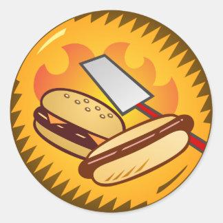 Cookout emblem classic round sticker