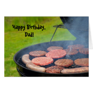 Cookout for Dad's Birthday Greeting Card