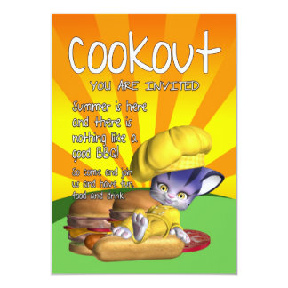 Cookout Invitation Card - Cookout & BBQ