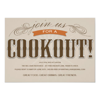 COOKOUT   SUMMER PARTY INVITATION