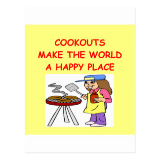 cookouts postcard