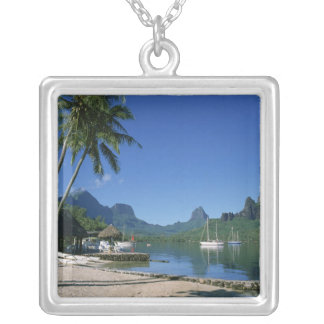 Cook's Bay, Moorea, French Polynesia Silver Plated Necklace