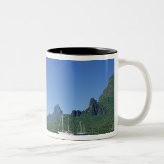 Cook's Bay, Moorea, French Polynesia Two-Tone Coffee Mug