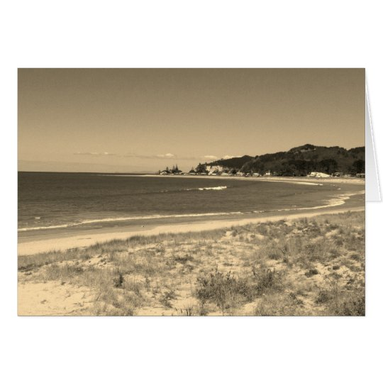 Cooks Beach, Coromandel, New Zealand - Sepia Card