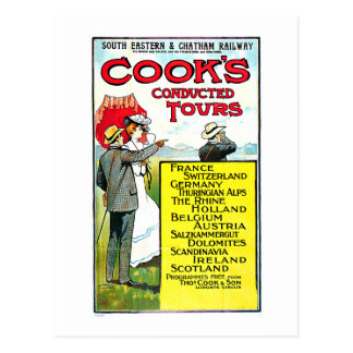 Cook's Conducted Tours Europe Travel Art Postcard