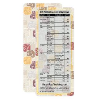 Cook's Helper-Safe Cooking Temps Card #4