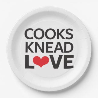 Cooks Knead Love 9 Inch Paper Plate