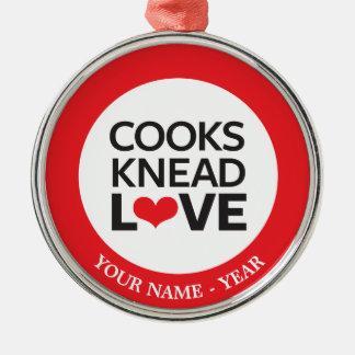 Cooks Knead Love Christmas Ornament