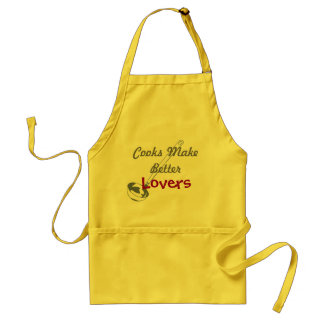 cooks make better lovers standard apron