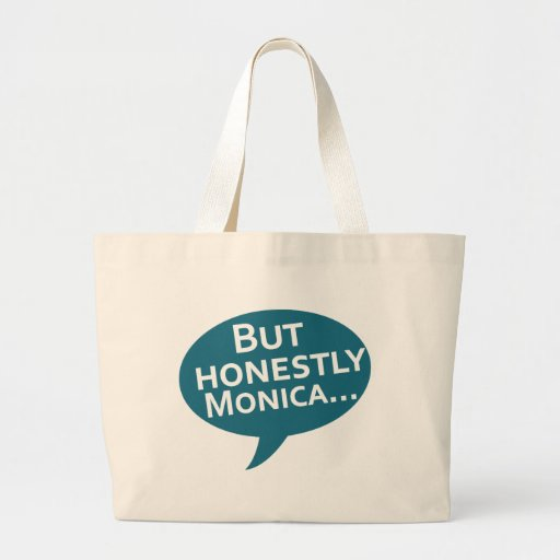"""Cooks Source - """"But Honestly Monica"""" Blue Tote Bags"""