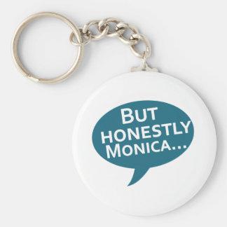 """Cooks Source - """"But Honestly Monica"""" Blue Basic Round Button Key Ring"""