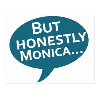 "Cooks Source - ""But Honestly Monica"" Blue Postcard"
