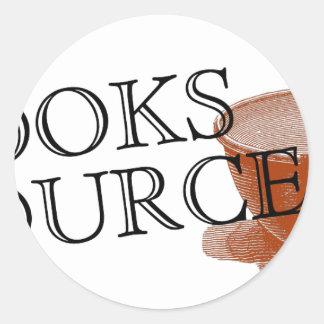 Cooks Source Round Sticker