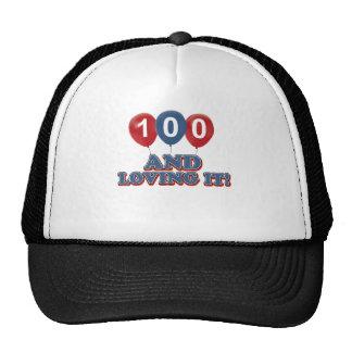 Cool 100 year old birthday designs cap