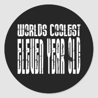 Cool 11th Birthdays Worlds Coolest Eleven Year Old Stickers