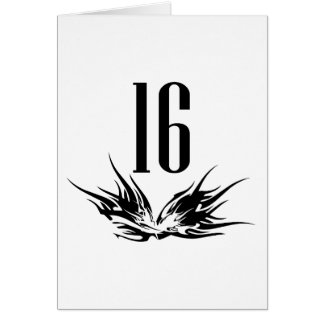 Cool 16th Birthday Gift Greeting Card