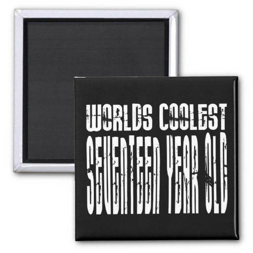 Cool 17th Birthdays Worlds Coolest Seventeen Year Refrigerator Magnet