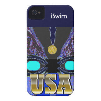 Cool 2012 Gold USA Sports iSwim iPhone Case iPhone 4 Case-Mate Cases