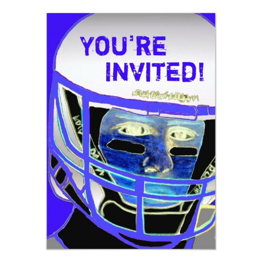 Cool 2013 Football Party Invitation Customisable
