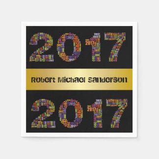 Cool 2017 Personalized Graduation Disposable Napkins