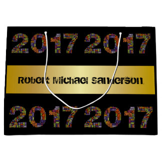 Cool 2017 Personalized Graduation Large Gift Bag
