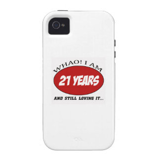 cool 21 years old birthday designs case for the iPhone 4