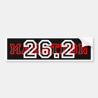 Cool 26.2 Marathon Bumper Sticker
