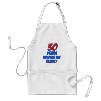 cool 30 years old birthday designs aprons