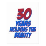 cool 30 years old birthday designs postcard