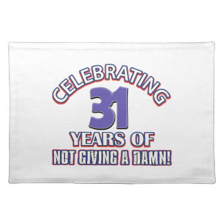 Cool 31 year old designs cloth place mat
