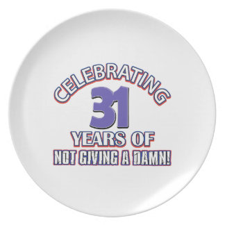 Cool 31 year old designs party plate