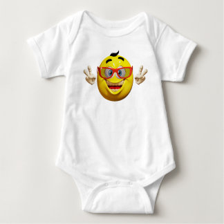 Cool 3d  emoticon  baby bodysuit