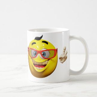 Cool 3d  emoticon with peace sign mug