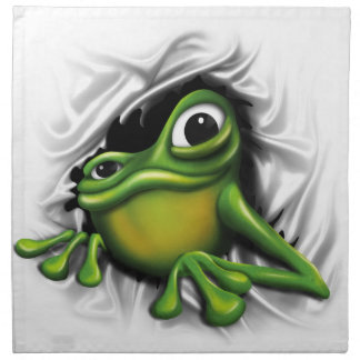 Cool 3d frog napkin