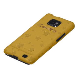 Cool 3D Gold Stars Custom Name Skin Samsung Galaxy S Case