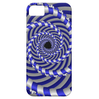 Cool 3d spiral in Blue & white iPhone 5 Case-Mate