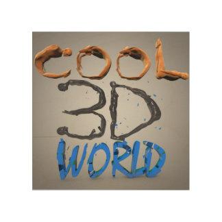 Cool 3D world Wood Wall Decor