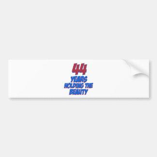 cool 44 years old birthday designs bumper sticker