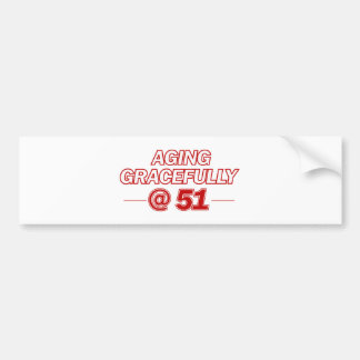 cool 51 years old gifts bumper stickers