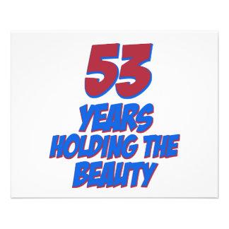 cool 53 years old birthday designs flyer design