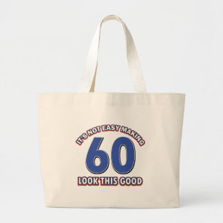 Cool 60 year birthday designs tote bag