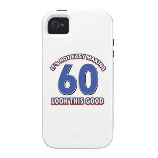 Cool 60 year birthday designs iPhone4 case