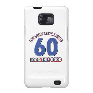 Cool 60 year birthday designs galaxy s2 cover
