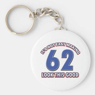 Cool 62 year birthday designs key chain