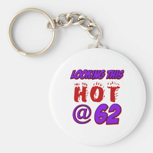 cool 62 years old birthday designs keychains