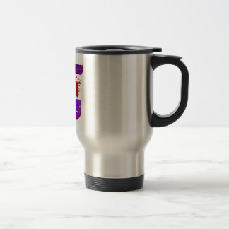 cool 65 years old birthday designs stainless steel travel mug